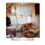Dry Cleaner - The Laundry Room Shower Curtain by Mike Savad