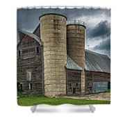 Dual Silos Shower Curtain by Paul Freidlund