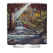 Duality Shower Curtain by Ricardo Chavez-Mendez