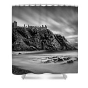 Dunnottar Castle 2 Shower Curtain by Dave Bowman