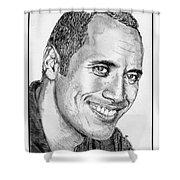 Dwayne Johnson In 2007 Shower Curtain by J McCombie