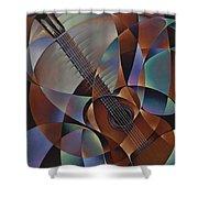 Dynamic Guitar Shower Curtain by Ricardo Chavez-Mendez