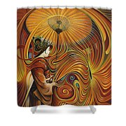 Dynamic Oriental Shower Curtain by Ricardo Chavez-Mendez