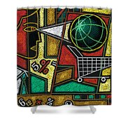 E-commerce Shower Curtain by Leon Zernitsky