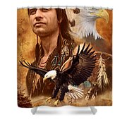 Eagle Montage Shower Curtain by Garry Walton