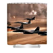 Eagles And Falcons Shower Curtain by Benjamin Yeager