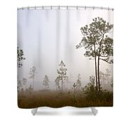 Early morning fog Shower Curtain by Rudy Umans