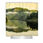 Early Morning Reflections Shower Curtain by Robert Bales