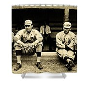 Early Red Sox Shower Curtain by Benjamin Yeager