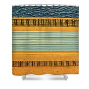 Earth Layers Abstract Ll Shower Curtain by Michelle Calkins