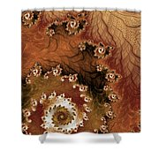 Earth Rhythms Shower Curtain by Heidi Smith