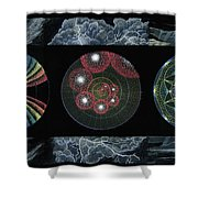 Earth's Beginnings Shower Curtain by Keiko Katsuta