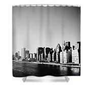 East River New York Shower Curtain by Shaun Higson