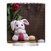 Easter Bunny Shower Curtain by Edward Fielding