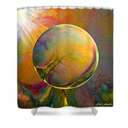 Easter Orb Shower Curtain by Robin Moline
