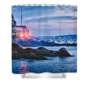 Eastern Yacht club starts the Marblehead harbor illumination off Shower Curtain by Jeff Folger