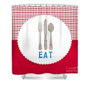 Eat Shower Curtain by Linda Woods