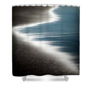 Ebb And Flow Shower Curtain by Dave Bowman