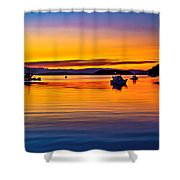 Echo Bay Sunset Shower Curtain by Robert Bales