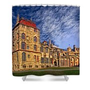 Eclectic Castle Shower Curtain by Susan Candelario