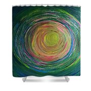 Eclipse Of Time Shower Curtain by Daina White