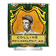 Eddie Collins Philadelphia Athletics Baseball Card 1025 Shower Curtain by Wingsdomain Art and Photography