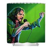 Eddie Vedder Of Pearl Jam Shower Curtain by Paul Meijering