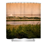 Edgartown Lighthouse Shower Curtain by Bill  Wakeley