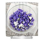 Edible Violets  Shower Curtain by Elena Elisseeva