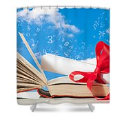 Education Shower Curtain by Amanda And Christopher Elwell