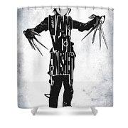 Edward Scissorhands - Johnny Depp Shower Curtain by Ayse Deniz