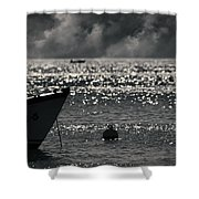 Ege Shower Curtain by Taylan Soyturk