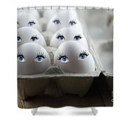 Eggs Shower Curtain by Juli Scalzi