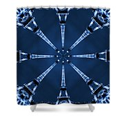 Eiffel Art 21 Shower Curtain by Mike McGlothlen