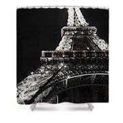 Eiffel Tower Paris France Night Lights Shower Curtain by Patricia Awapara