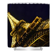 Eiffel Tower Paris France Side Shower Curtain by Patricia Awapara