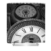 Eight Faces of Time Shower Curtain by Tom Gari Gallery-Three-Photography