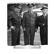 Eisenhower & Marshall 1944 Shower Curtain by Granger