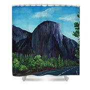 El Capitan Shower Curtain by Anastasiya Malakhova