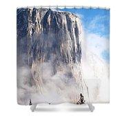 El Capitan Shower Curtain by Bill Gallagher