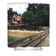 El Morro Park Shower Curtain by Carey Chen