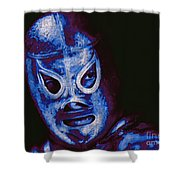 El Santo The Masked Wrestler 20130218m168 Shower Curtain by Wingsdomain Art and Photography