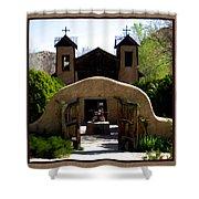 El Santuario De Chimayo Shower Curtain by Kurt Van Wagner