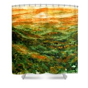 El Yunque Rainforest Shower Curtain by Zaira Dzhaubaeva