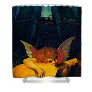 Electric Lute Shower Curtain by Garry Walton