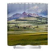 Electric Peak Shower Curtain by Bill Gallagher
