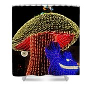 Electrical Wonderland Shower Curtain by Benjamin Yeager
