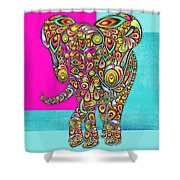 Elefantos - 01ac02aa Shower Curtain by Variance Collections