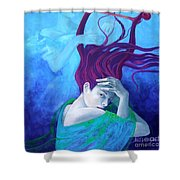 Elegy Shower Curtain by Dorina  Costras