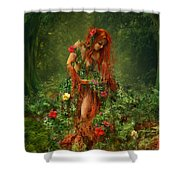 Elements - Earth Shower Curtain by Cassiopeia Art